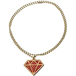 Good Wood NYC Men Accessories / Necklace NYC Micro Diamond Mono red Standard size