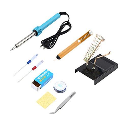 Lötkolben Kit, 60W 220V Lötkolben Kit, Professional Löten Kit Schweißen Starter Tool Set Elektrische Lötkolben Tool Kit für einfache und sichere Verwendung bei der Arbeit und zu Hause