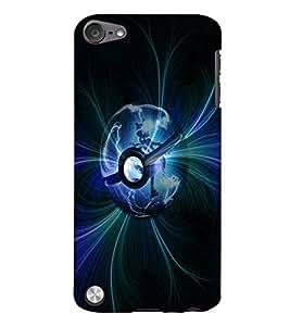 PrintVisa Modern Art Earth 3D Hard Polycarbonate Designer Back Case Cover for Apple iPod Touch 5