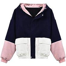 f1d30dd6bc81 Coats Damen,Kimodo Mode Frauen Langarm Cord Patchwork Oversize Jacke  Windbreaker Mantel Frühling Herbst Winter