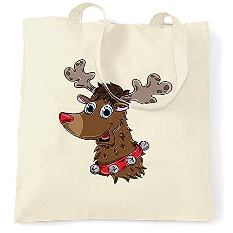 Weihnachtsren Printed Slogan Zitat Design Premium-Qualität Tragetasche (Festliche Zitate Für Weihnachten)