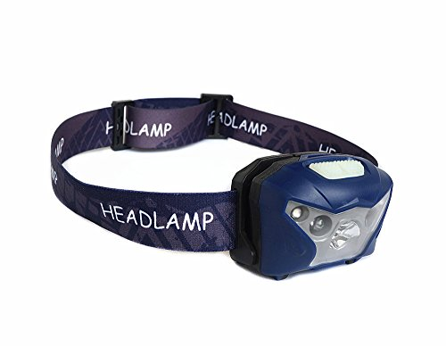 GT Wiederaufladbare Scheinwerfer, Motion Sensor Kopf Lampe freisprecheinrichtung Scheinwerfer Lampe 5 modi perfekt für Nacht Angeln, Camping, wandern, Klettern, lesen ect,Blue -