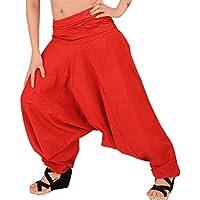 SNS Pure algodón Harem Pantalón de India pantalones de yoga pant -  Rojo -