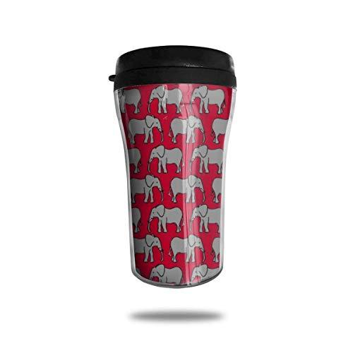Elefantes Negros Taza de café portátil de Viaje Taza de vacío, Vasos de Botella de Agua con Taza de té aislada con Tapa 8.54 oz (250 ml)