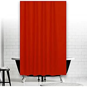 textil duschvorhang uni rot 180x200 inkl ringe 180 breit x 200 hoch shower curtain red. Black Bedroom Furniture Sets. Home Design Ideas