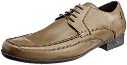 Ruosh Mens Tan Leather Formals Shoes - 7.5 UK/India (41 EU)(8.5 US)(1101101403)