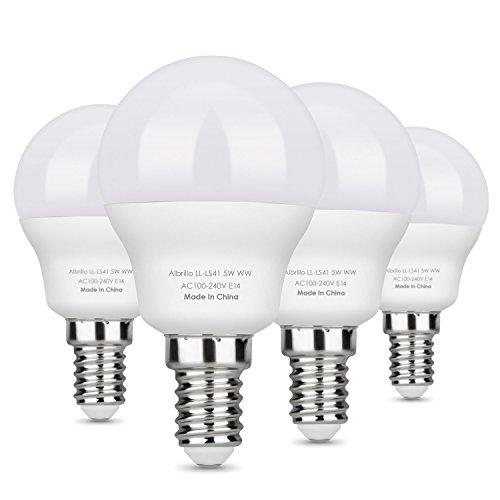 Albrillo E14 Warmweiss LED Lampe (Weiß 5W)