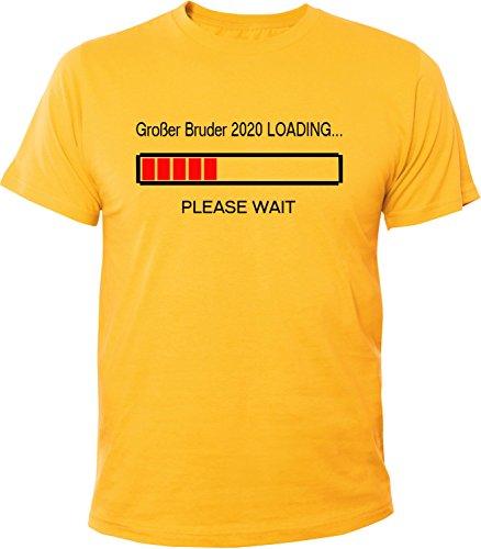 Mister Merchandise Herren Men T-Shirt Großer Bruder 2020 Loading Tee Shirt bedruckt Gelb