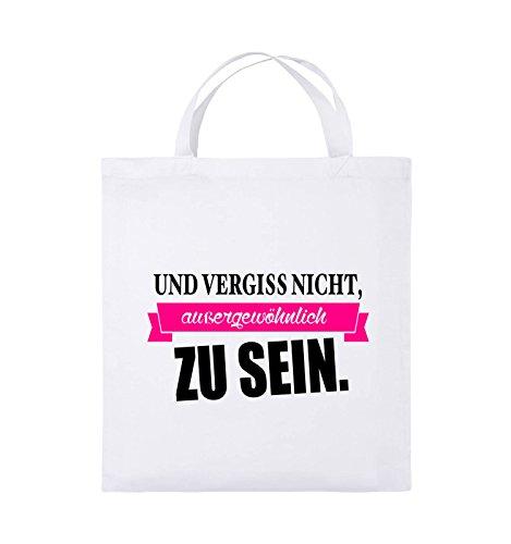 Und vergiss Comedy Weiss sein Jutebeutel Farbe zu Bags Schwarz Henkel Weiss aussergewöhnlich Pink Schwarz 38x42cm kurze nicht Neongrün SqExH5UE