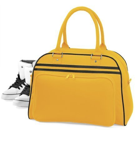 BagBase Retro Bowling Bag Navy / white [Apparel]