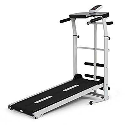 Folding Portable Multifunctional Manual Treadmill Fitness Running Machine Cardio Exercise Home Gym Incline by YP