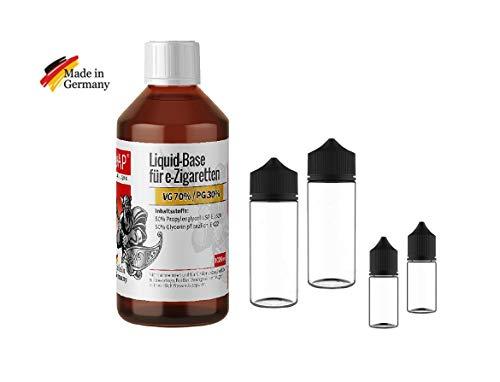 CiVAP Liquid Base 70 VG 30 PG 1000ml ohne Nikotin + 2 x 120ml und 2 x 30ml original Chubby Gorilla V3 PET Leerflaschen