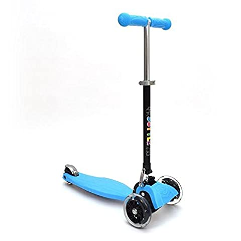 3Style Scooters® RGS-1 Scooter Tilt Kick board Mini T-Bar 3 Wheel Kick Scooter Board for Boys / Girls / Children / Kids With Spin & Flash LED Wheels - Free Upgrade to Expedited Shipping | Perfect Unique Present Xmas Christmas Gift
