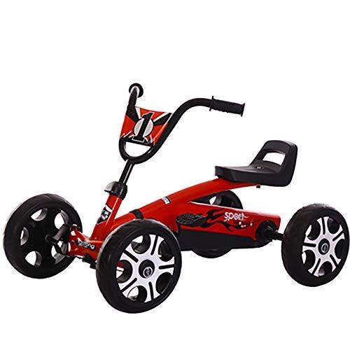 SHARESUN Go-Kart Gokart Go-Kart Pedal Outdoor Spielzeug Racing Fun Cart, für 3-6 Jahre alte Mädchen & Jungen, Red