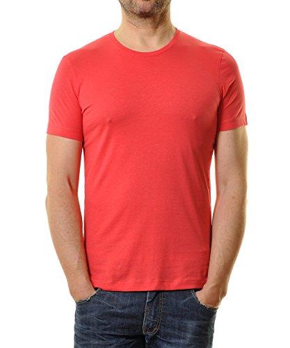 RAGMAN Herren T-Shirt Bodyfit mit Rundhals Koralle-652