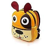 Zainetto Bambina Bambino Asilo, AOBETAK Zaino Scuola Piccolo con Disegno Animale, Grande Regalo & I regali Sacchetto per Bambini bimba Bambino 2-7 anni- cane arancione