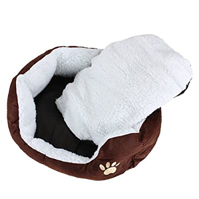 Acolchado cojín cama para perros/gatos/animales 60x 55x 22cm grande café