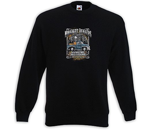 Booze Pullover Midnight Runners Biker Hot Rod Whiskey Rockabilly Schwarz