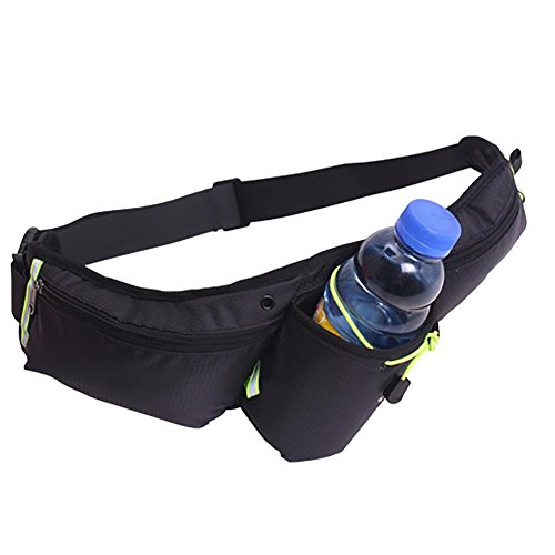 MIAO Outdoor borsa multifunzionale vita, Body-Building borsa da corsa, sport acqua bottiglia borsa, 6 pollici cellulare borsa , Orange black