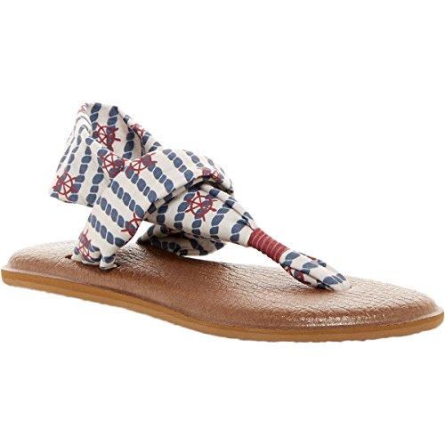 Sanuk Womens Yoga Sling 2 Prints Sandal Footwear, Natural Knot The Line, Size 09