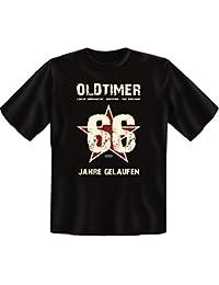 Geschenk-Idee zum 66. Geburtstag :-: Herren kurzarm T-Shirt :-: Oldtimer 66 Jahre Gelaufen :-: Geburtstagsgeschenk Geschenkidee Papa Vater Männer :-: Farbe: schwarz