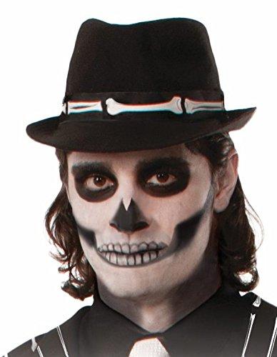 ochen Männer Halloween Fasching Karneval Skelett Hutband Tag der Toten Dia de Muertos Einheitsgröße (Mann, Skelett, Halloween)