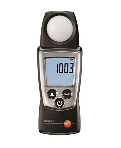 Testo 0560 0540 540 handliches Beleuchtungsstärke-Messgerät, inklusive Schutzkappe, Kalibrier-Protokoll und Batterien