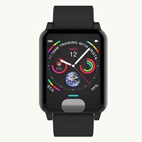 XRFHZT Outdoor-Uhr, intelligente 1.3-farbige Bildschirmarmband EKG + PPG-Test Wasserdichte Herzfrequenz-Blutdruckuhr,Black
