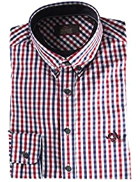 Ugholin - Camisa Casual Ajustada de Manga Larga para Hombre - Andy