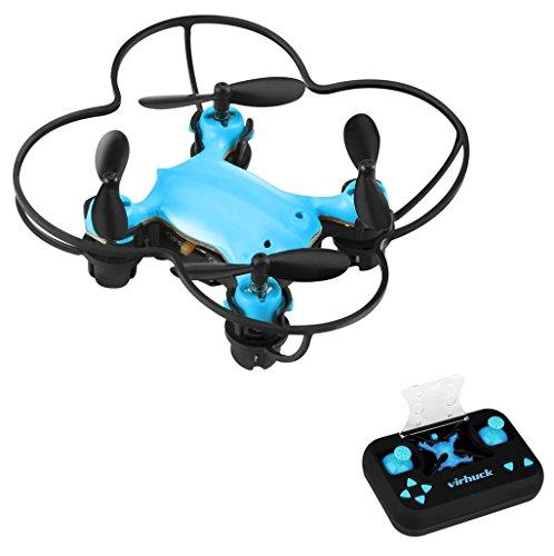 Virhuck Volar-360 RC Nano Pocket Drone Quadcopter, 2,4 GHz 4,5 CH 6 AXIS 360 Grad Flip Mini Drone Helicopter - Blau