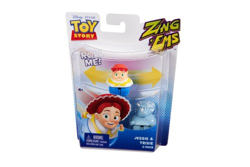 Disney Pixar Toy Story Zing\'Ems - Jessie & Trixie 2-Pack by Mattel (English Manual)