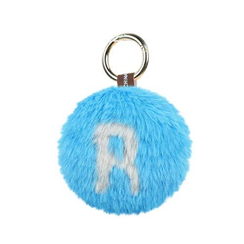 TianranRT♕ Herzanhänger Tasche,Neuer Süßer Schlüsselanhänger Liebesplüschball Mit Buchstabenanhänger Kreative Dekoration,Mehrfarbig