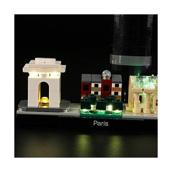 LIGHTAILING Set di Luci per (Architecture Parigi) Modello da Costruire - Kit Luce LED Compatibile con Lego 21044 (Non… 5 spesavip