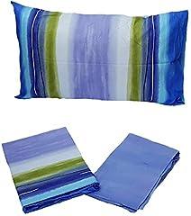 Idea Regalo - Bassetti Lenzuola matrimoniali Flowing Azzurro - Matrimoniale (sotto 175x200 - sopra 240x280) - lenzMBassetti17
