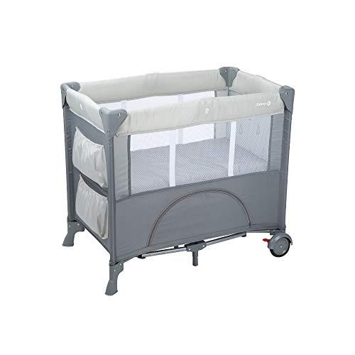 Safety 1st mini dreams culla da viaggio, lettino da campeggio per bambini e neonati, con materassino e vano portaoggetti, warm gray