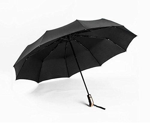 HCJYS JCRNJSB® Vollautomatischer Regenschirm, falten Sie dreifachen automatischen windundurchlässigen Regen sonnigen Tag Männer Frau Einfach zu falten Winddicht regendicht Regenschi