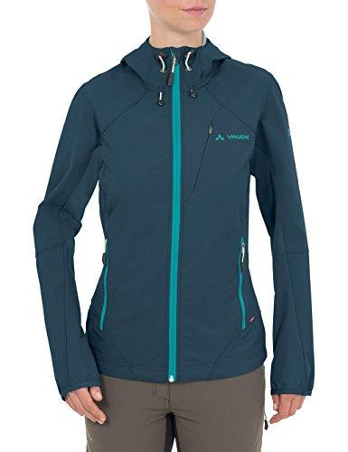 Vaude Damen Jacke Rokua Jacket, Soft Shell für Damen, Grün (Dark Petrol/Blue Sapphire), 42