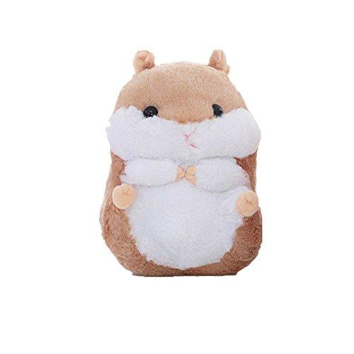 Misslight 3D Hamsters Plüsch weiches Plüschtiere Stofftier Mehrfarbig Babyspielzeug Kätzchen Kopfkissen Kinder Geschenk (55cm, Braun Hamsters)