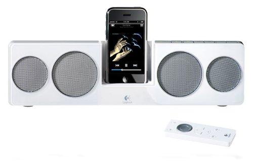 Logitech Pure-Fi Anywhere 2 Kompakte Lautsprecher (Universal Dock-Adapter) für iPod/iPhone weiss