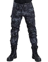 YuanDiann Homme Tactique Pantalon De Camouflage Militaire Multi-Poches  Respirant Imperméable Armée Battle Trekking Chasse Randonnée… 22e351c8fd4