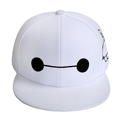 Xcoser Neutral Big White Hat Hut Super Film Cosplay Kostüm Cap Weiß Basketball Hysteresen Kappe (Big Hero 6 Figur Kostüme)