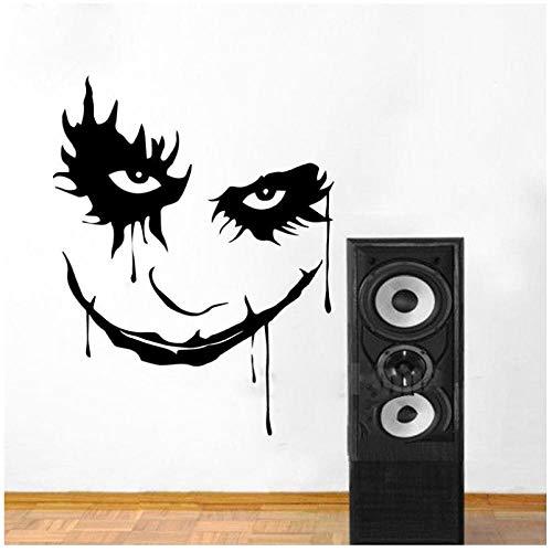 Scary Monster Gesicht Ghost Blood Horror Cartoon Clown Abnehmbare Vinyl Wandaufkleber Abziehbild Dekor Schlafzimmer Sofa Background58x75cm
