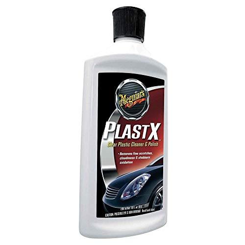 Meguiars PlastX Car Headlight & Clear Plastic Cleaner / Polish Kit