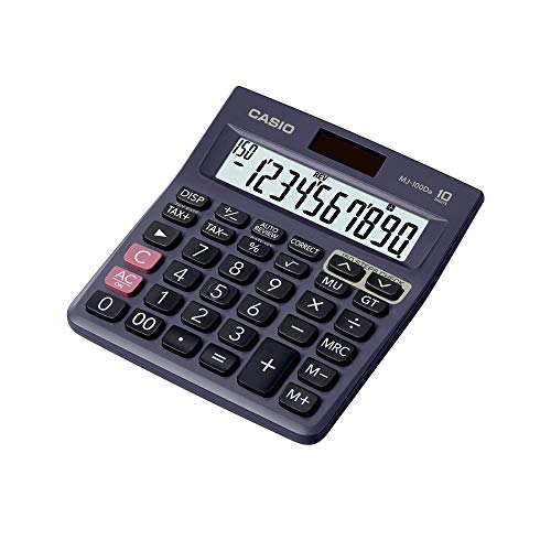 Casio MJ-100Da 150 Steps Check and Correct Desktop Calculator with Tax & GT Keys & On Display Indication of Active Constant (K)