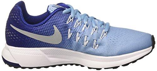Nike Mädchen Zoom Pegasus 33 (Gs) Laufschuhe Azul (Bluecap / Metallic Silver-Deep Royal Blue)