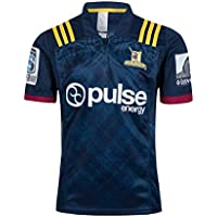 CRBsports Otago Highlanders, Rugby Jersey, Nueva Tela Bordada, Swag Sportswear (Negro, XL)
