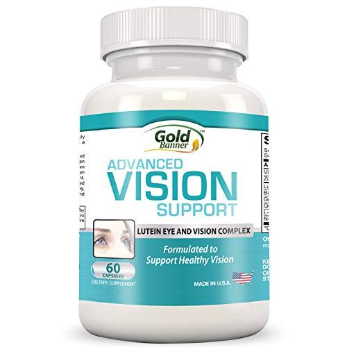 Gold Banner- Apoyo avanzado para la vista con luteína - Pastillas de fórmula para la...