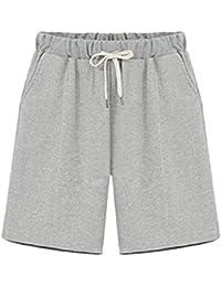 dd3b871709 Vdual Damen Lässige Kurze Hose Übergröße Breites Bein Kurze Sporthose Sweat Shorts  Bermuda Sweatpant ...