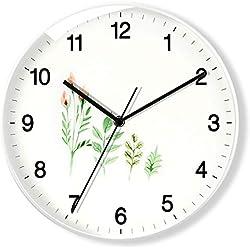 Zxwzzz Relojes De Pared Marco De Metal Cubierta De Vidrio Silencio Digital con Pilas Reloj De Pared De Cuarzo 12 Pulgadas Moderno Diseño De Cuarzo Decorado Interior, Cocina.