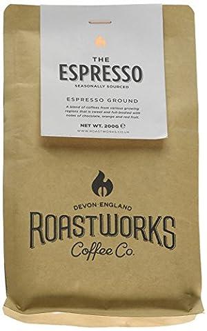 Roastworks The Espresso Premium Roast and Ground Coffee 200 g